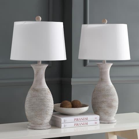 Safavieh Lighting 30-inch Bentlee Grey LED Table Lamp (Set of 2)