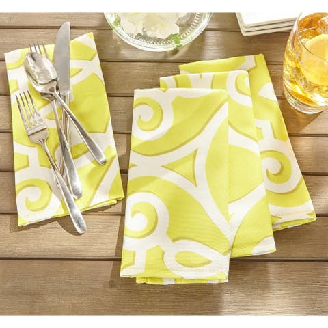 Chase Geometric Stain Resistant Indoor Outdoor Napkin Set of 8