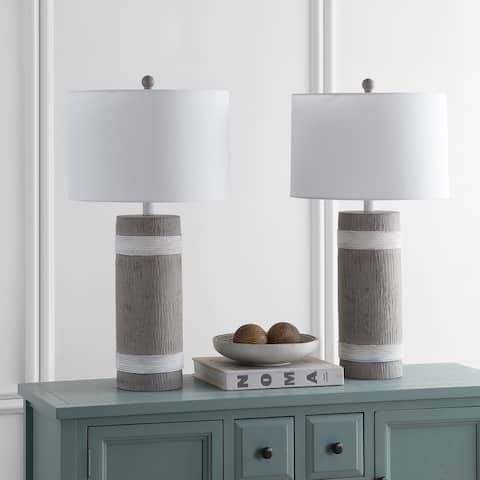Safavieh Lighting 29-inch Brixton Brown/ White LED Table Lamp (Set of 2)