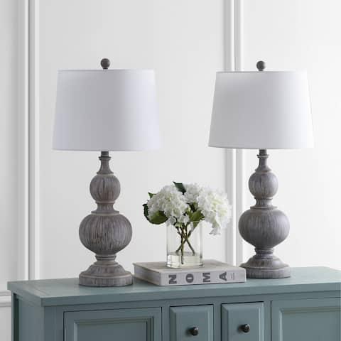 Safavieh Lighting 29-inch Ephraim Brown LED Table Lamp (Set of 2)