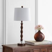 "Safavieh Lighting 28"" Lukas Table Lamp - Wood - 12"" x 12"" x 28"""