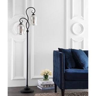 "Link to Safavieh Lighting 64-inch Claudia Bronze LED Floor Lamp - 16"" x 9.8"" x 63.5"" Similar Items in Floor Lamps"