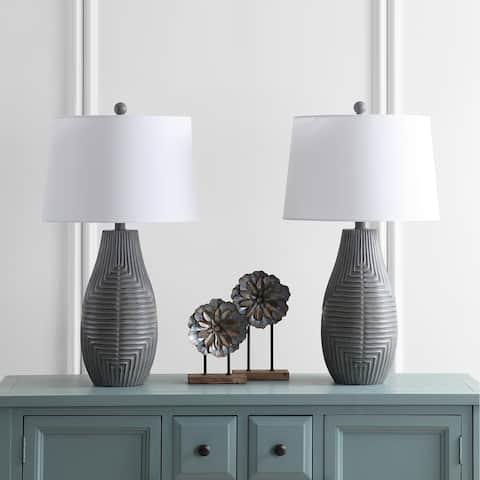 Safavieh Lighting 28-inch Jairo Brown LED Table Lamp (Set of 2)