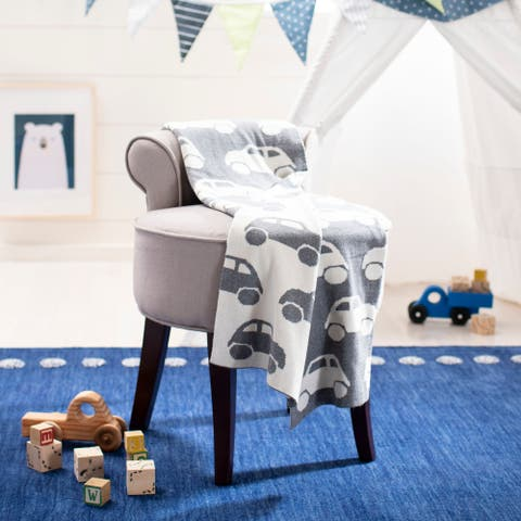 "Safavieh Baby Collection Herbie Throw - Grey / White - 32"" x 40"""