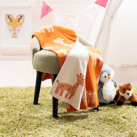 "Safavieh Baby Collection Titan Throw - Orange - 32"" x 40"""