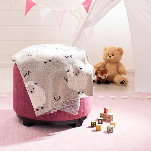 "SAFAVIEH Baby Collection Kibbles Throw - Grey - 32"" x 40"""