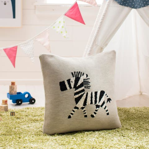 "Safavieh Baby Collection Zazu Pillow - Grey / Black - 20 "" x 20"""