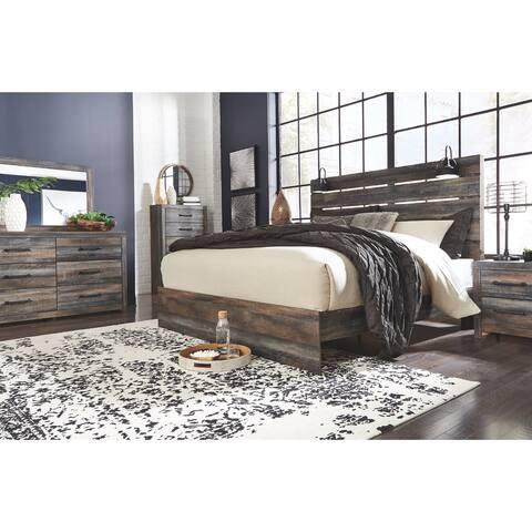 Drystan Rustic Panel Bed