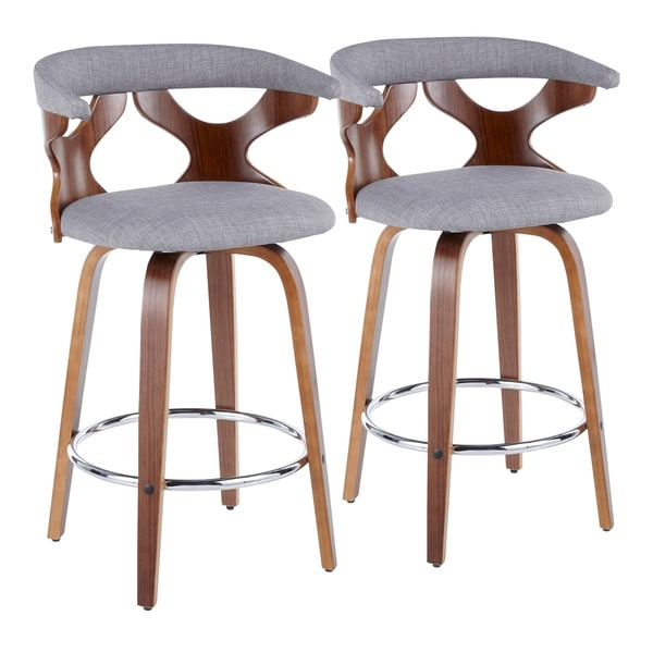 Carson Carrington Viby Mid-century Modern Counter Stools (Set of 2) - N/A. Opens flyout.