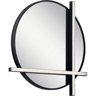 Elan Kemena Integrated LED Mirror, Matte Black Finish - Matte Black - A/N