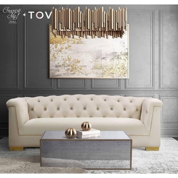 Shop Inspire Me Home Décor Lana Mirrored Coffee Table