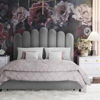 Queen Celine Grey Velvet Bed