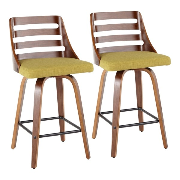 Carson Carrington Oglala Mid-century Modern Upholstered Counter Stools (Set of 2). Opens flyout.