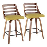 Carson Carrington Culnady Mid-century Modern Upholstered Counter Stools (Set of 2)