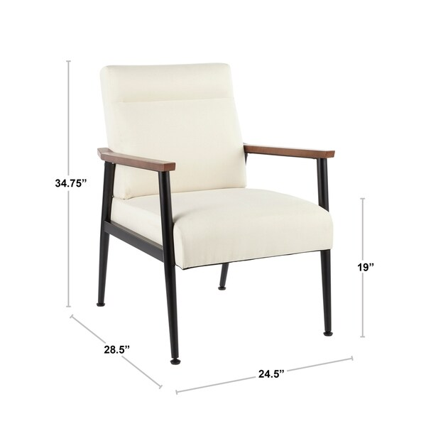 Copper Grove Dryanovo Upholstered Armchair with Walnut Wood Accents - N/A