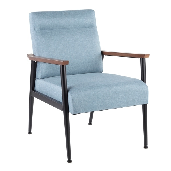 Copper Grove Dryanovo Upholstered Armchair with Walnut Wood Accents - N/A. Opens flyout.