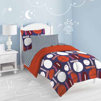Dream Factory All Sports 7-Piece Bed in a Bag with Sheet Set