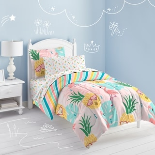 Dream Factory Pineapple 7-Piece Bed in a Bag with Sheet Set
