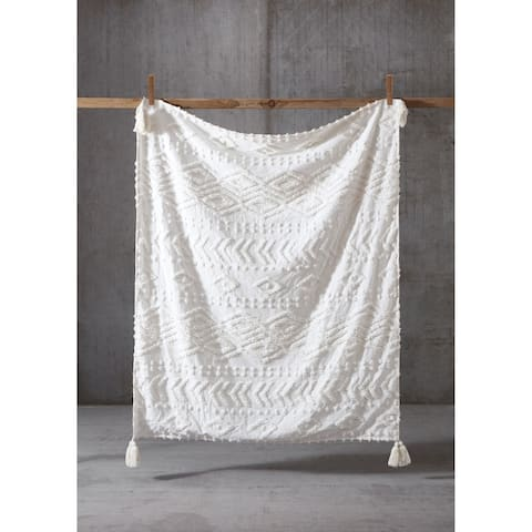 The Curated Nomad Barbary Tufted Chenille 50x60 Throw