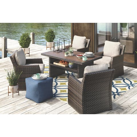 Salceda 5-piece Outdoor Dining Set with 4 Chairs and Dining Table