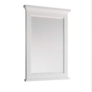 "Fresca Windsor 30"" Matte White Bathroom Mirror"