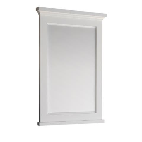 "Fresca Windsor 27"" Matte White Bathroom Mirror"
