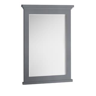 """Fresca Windsor 27"""" Gray Textured Bathroom Mirror - Grey - A/N"""