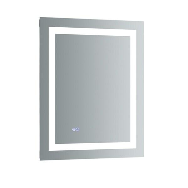 Fresca Santo Silvertone Tall Bathroom Mirror with LED Lighting and Defogger