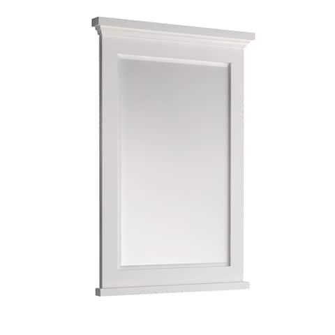 "Fresca Windsor 24"" Matte White Bathroom Mirror"