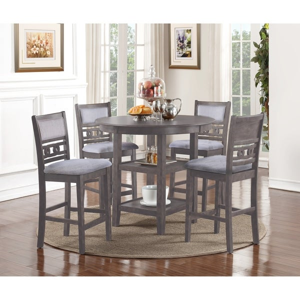 Shop Gia Grey 5 Piece Counter Dining Table Set On Sale