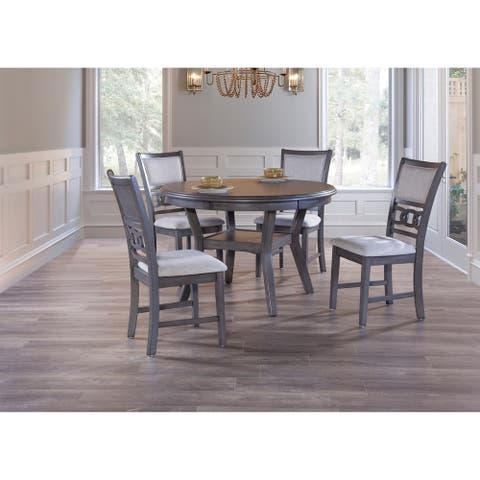 Copper Grove Creteil Grey 5-piece Round Dining Table Set