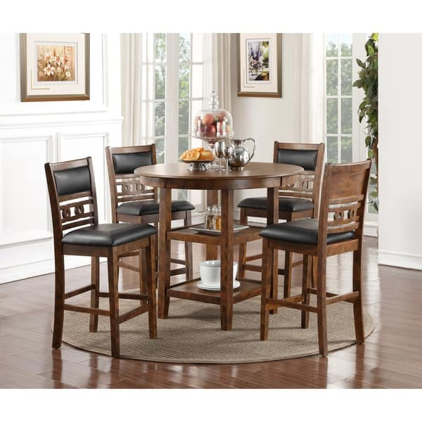 Gia Brown 5 Piece Counter Dining Table Set On Sale Overstock 27126404