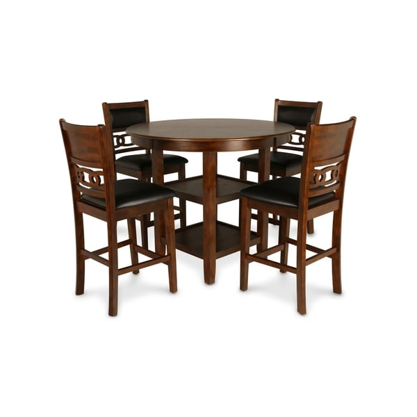 Gia Brown 5-piece Counter Dining Table Set