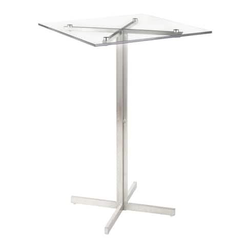 Silver Orchid La Plante Square Bar Table - N/A