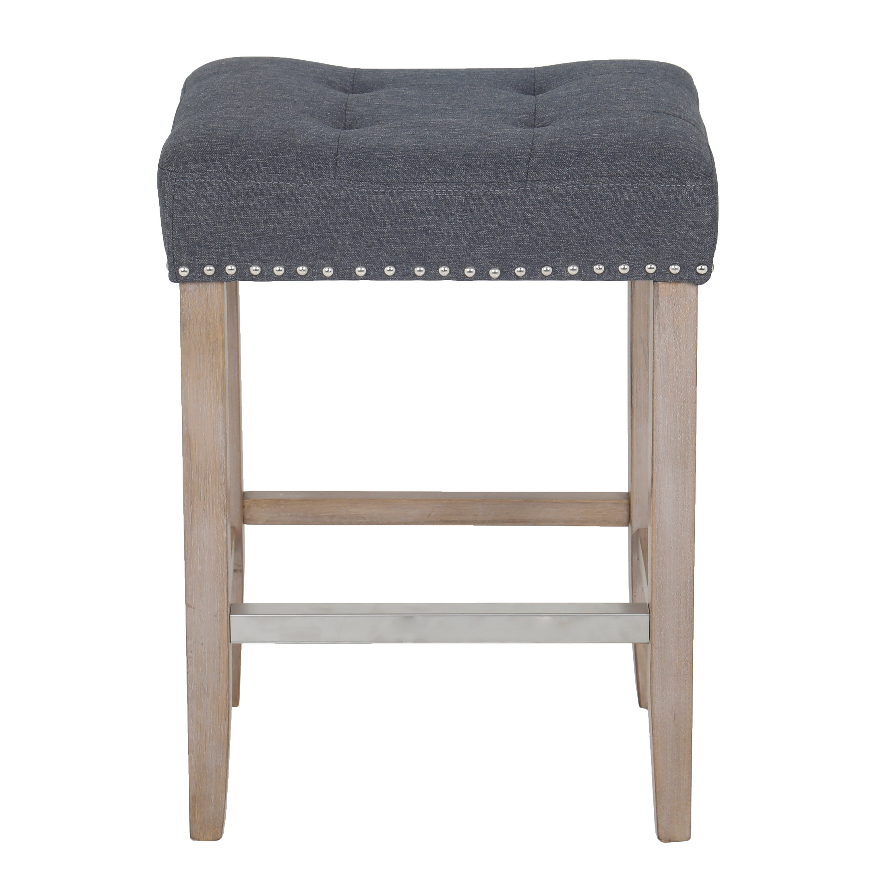 Super Quail Wooden Linen Tufted Counter 27 Bar Stool Accent Nail Trim Barstool Set Of 2 Caraccident5 Cool Chair Designs And Ideas Caraccident5Info