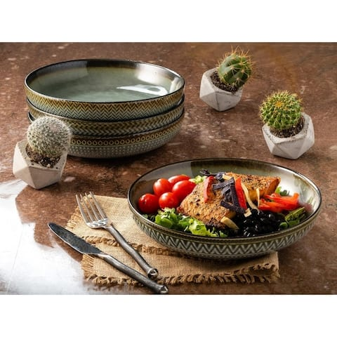Sango Glyph Grey Set of 4 Dinner Bowls
