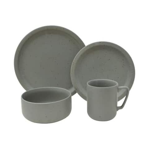 Sango Bryndale Grey 16 Piece Dinnerware Set, Service for 4