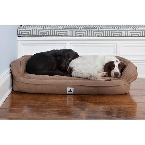 3 Dog Pet Supply EZ Wash Premium Headrest Memory Foam Dog Bed