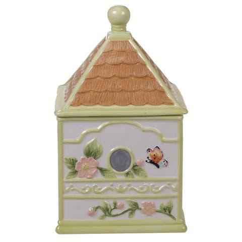 Certified International Spring Meadows 3-D Bird House Cookie Jar