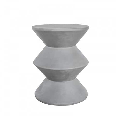 Modrest Ruiz Modern Grey Concrete Round Accent Table