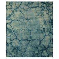 Green Contemporary Dip Dyed Rug - 9' x 12'