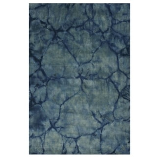 Blue Contemporary Dip Dyed Rug - 8' x 10'