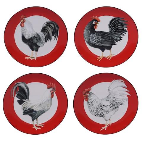 Certified International Homestead Rooster Dinner Plates, Set of 4
