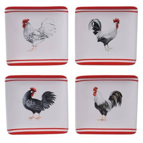 Certified International Homestead Rooster Dinner Plates, Set of 4