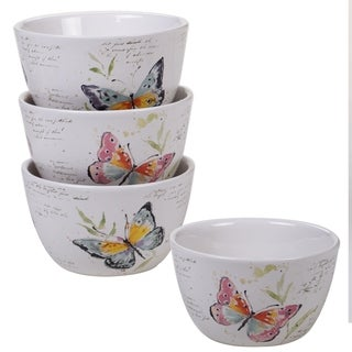 Certified International Spring Meadows Cereal Bowls, Set of 4