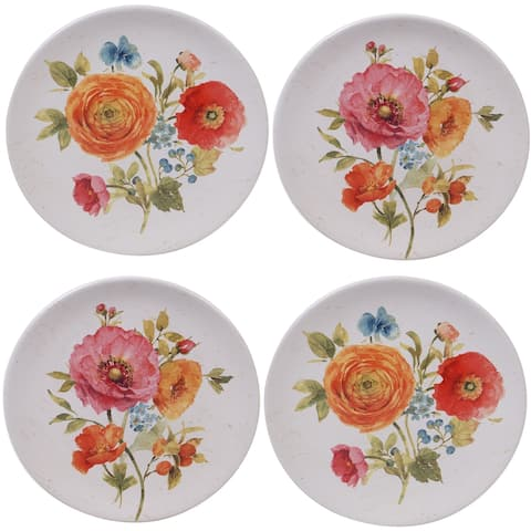 Certified International Country Fresh Salad Plates, Set of 4