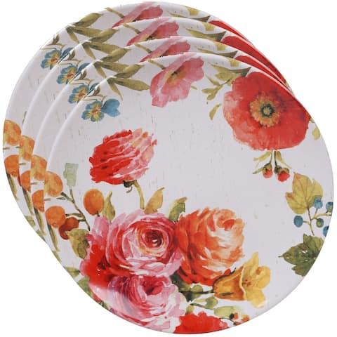Certified International Country Fresh Dinner Plates, Set of 4
