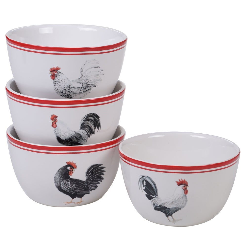 Black on Cream. Rooster Bowls