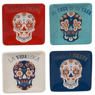 Certified International La Vida Canape Plates, Set of 4