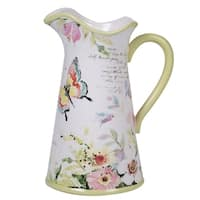Certified International Spring Meadows Ceramic Pitcher